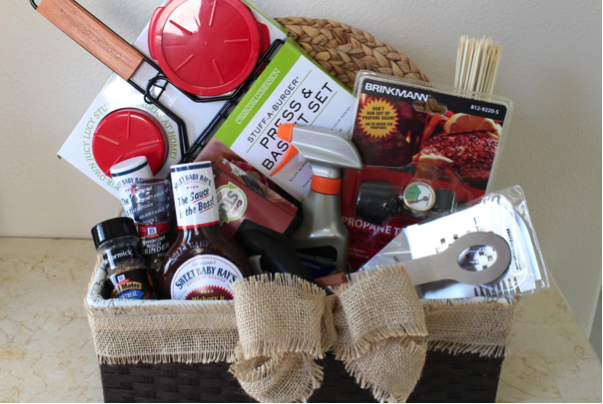 There are plenty of little tools and gadgets worth having if you want to be an expert griller. Why not bundle them into a personalized gift basket?