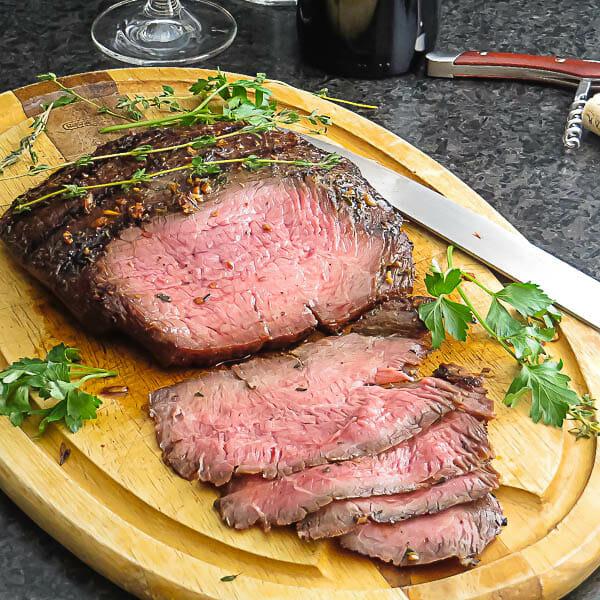 Bourbon Marinated Flank Steak